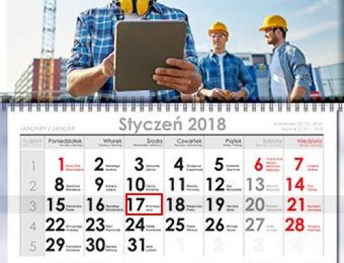 Kalendarz jednodzielny spiralowany